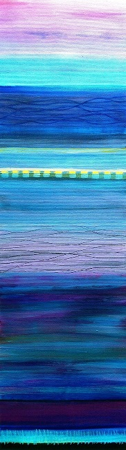 freetown sunrise - 8°N - 13°W (25x88 cm)